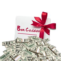 cadeaux + billets $ + GRATUIT