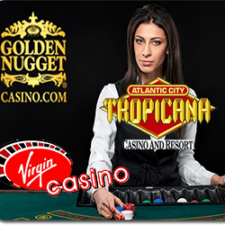 logos tropicana resort + golden nugget + virgin casino
