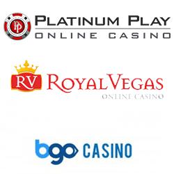 logos platinum play + royal vegas + BGO